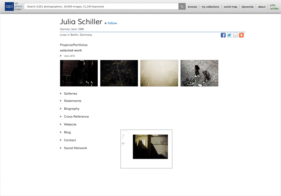 API - Art Photo Index - Julia Schiller