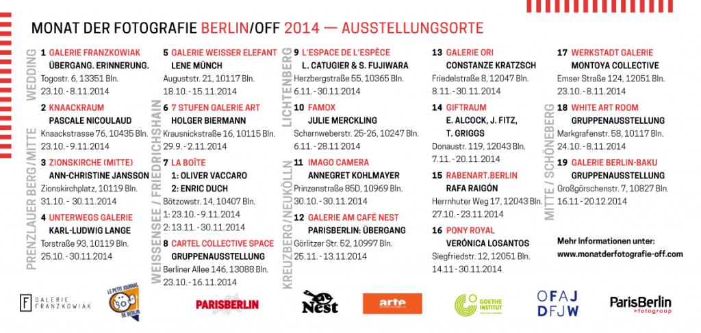 Monat der Fotografie-OFF Berlin 2014 | Ausstellungen